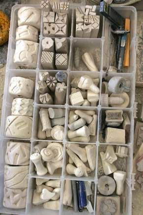 Clay stamps.                                      http://www.crossroadpottery.com/Website/