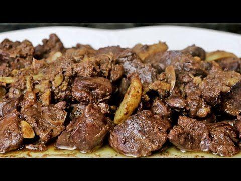 Higaditos de pollo al ajillo - Hígados de pollo en salsa de ajo - YouTube