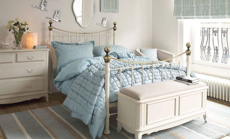 Laura Ashley's new Hasting Ivory brass bed is a classic design, which costs £800 for a double bed frame