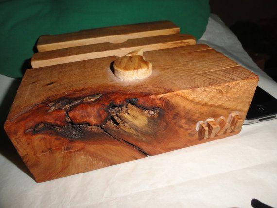 Ipad docking station, handmade, beech wood, olive oil on Etsy, $65.00