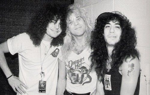 Steven Adler with Jeff LaBar (Cinderella Guitarist) and Fred Coury (Cinderella Drummer)