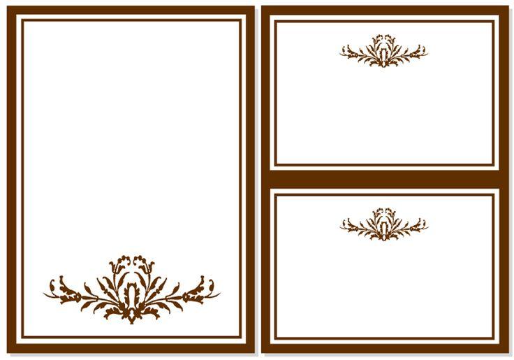 Wedding invitation, card for poem and RSVP card