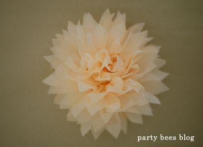 DIY kiddie party idea 22 お花紙でつくるフラワーバリエーション♪ | おうちでキッズパーティしよう♪kids party creater MOMMYがお届け《party bees blog》