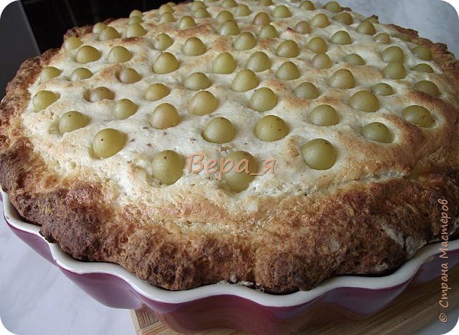 Кулинария Мастер-класс Рецепт кулинарный Творожно-виноградный пирог Продукты пищевые фото 1