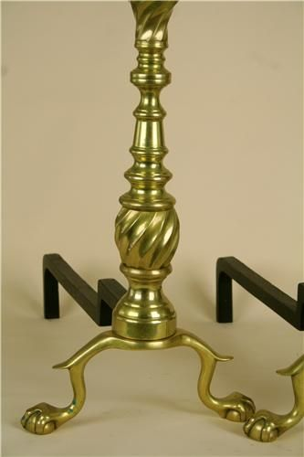 Virginia Metalcrafters pair of cast iron andiron shanks. (MSRP $325.00), Free Shipping