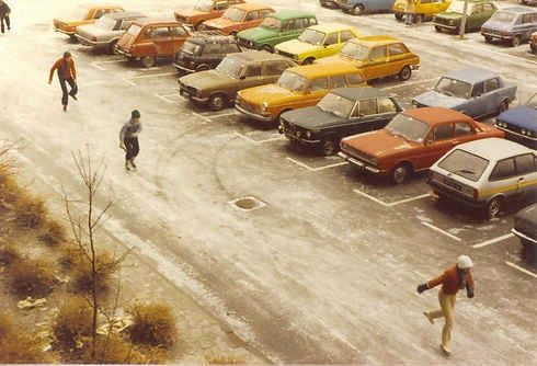 1978, op schaatsen naar school!