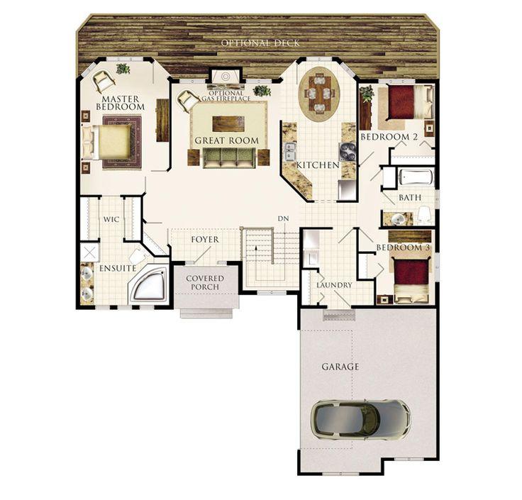 104 best cabin floor plans images on pinterest cabin for Weekend cabin floor plans