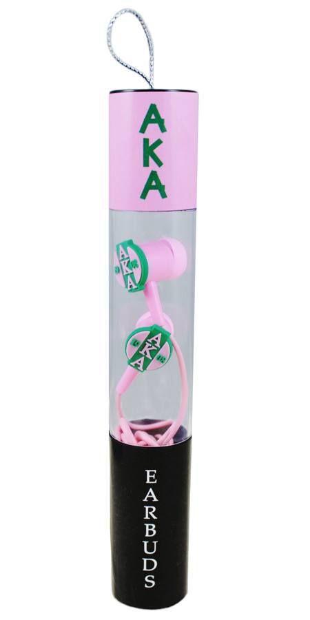 Alpha Kappa Alpha AKA Sorority Ear Buds - Brothers and Sisters' Greek Store
