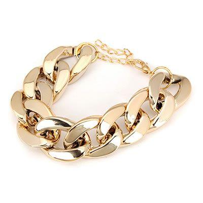 Gold chunky bracelet  Code: C07605  Price: R30