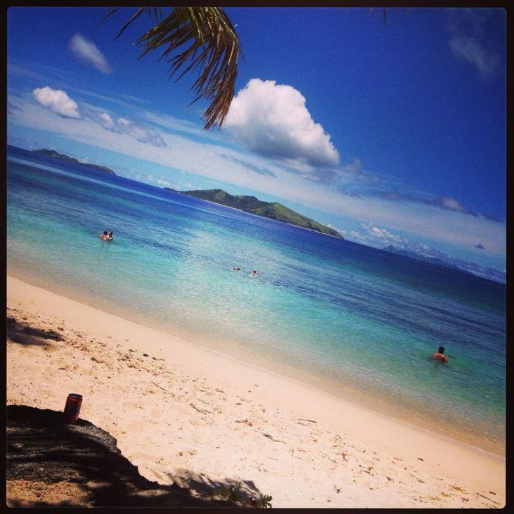 An adorable view. Fiji, Mana Island, 2014
