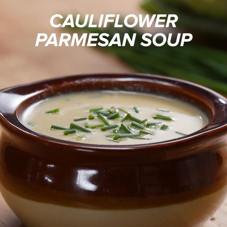 Cauliflower Parmesan Soup Recipe by Tasty