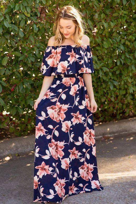 Vestido primaveral....Hermoso