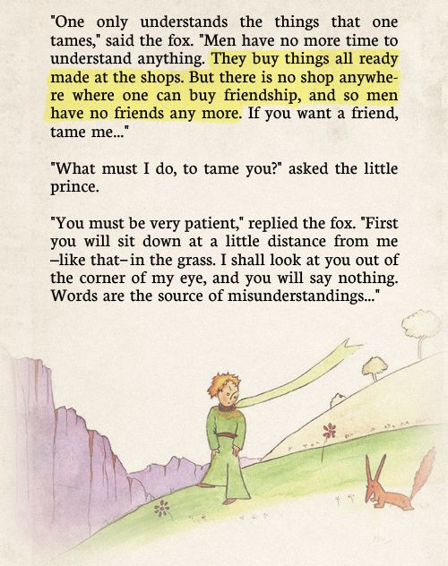More wise words from the little prince.