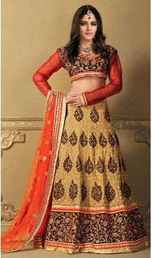 Sangeet Lehengas Online in Georgette and Tan Brown Color A Line Style | FH479274001 #heenastyle, #designer, #lehengas, #choli, #collection, #women, #online, #wedding , #Bollywood, #stylish, #indian, #party, #ghagra, #casual, #sangeet, #mehendi, #navratri, #fashion, #boutique, #mode, #henna, #wedding, #fashion-week, #ceremony, #receptions, #ring , #dupatta , #chunni , @heenastyle , #Circular , #engagement