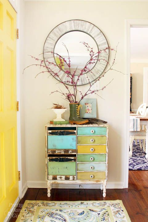 """Spring Foyer Vignette 