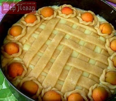Яблочно-абрикосовый пирог с заварным кремом / Сладкая выпечка / Рецепты / Шеф-повар – простые и вкусные кулинарные рецепты, фото-рецепты, видео-рецепты