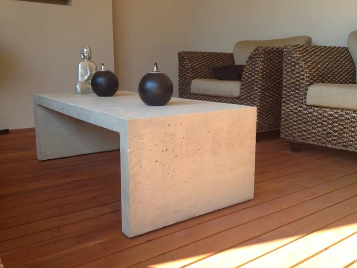 Raw Concrete Coffee Table Woodville Gardens Port Adelaide Area Image 1
