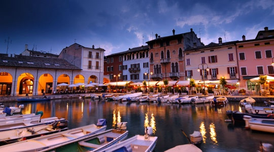 Desenzano - Our favourite Restaurant Colombo on the left ...