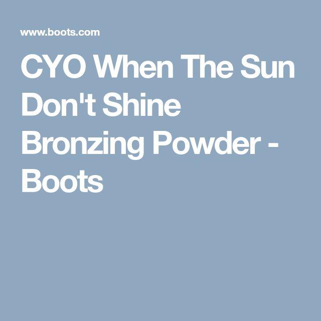 CYO When The Sun Don't Shine Bronzing Powder - Boots