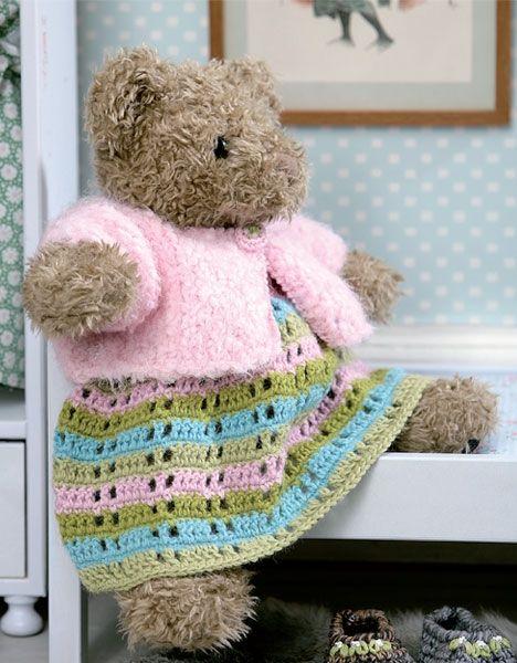 Hæklet dansekjole til Build-a-bear - Hendes Verden