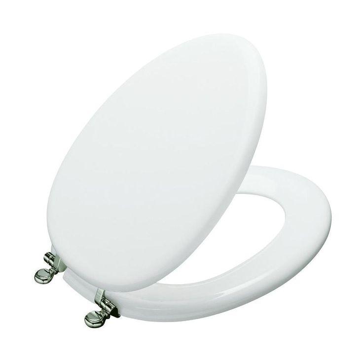 Kohler Kathryn White Toilet Seat with Vibrant Polished Hinge