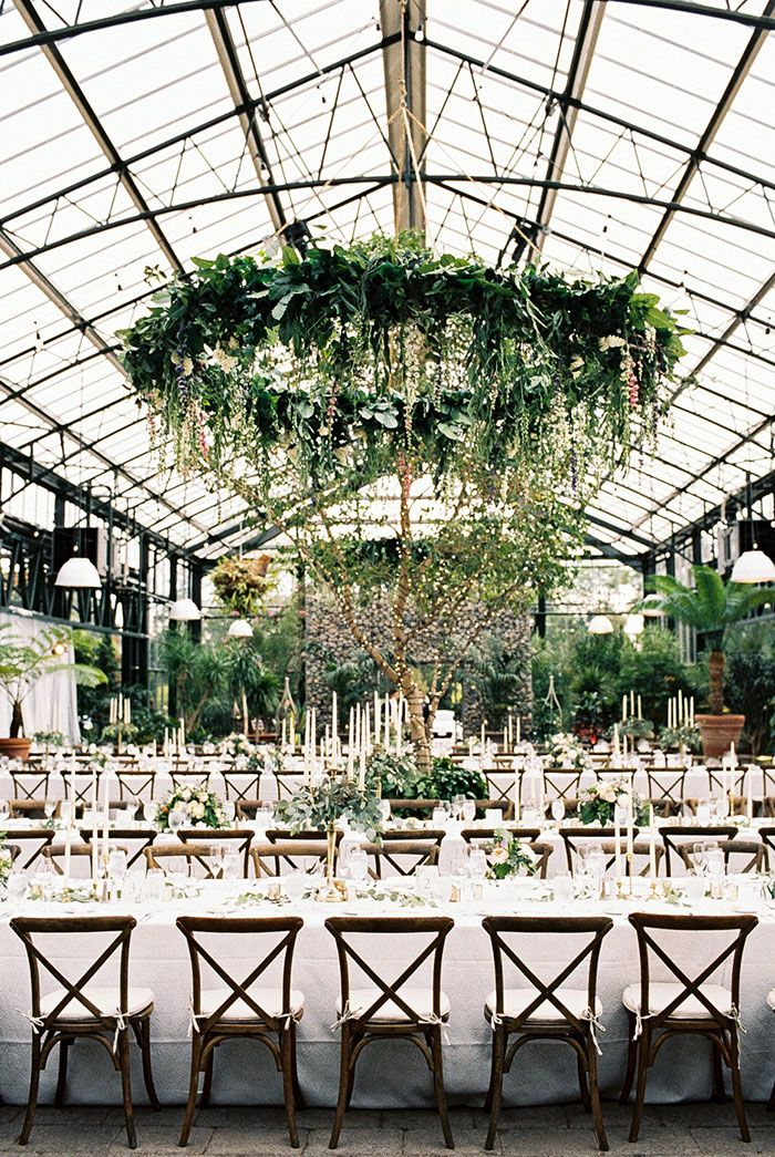 La Tavola Fine Linen Rental: Beatrice Garden Smoke   Photography: Blaine Siesser Photographer, Event Design: VLD Events, Venue: Planterra Conservatory, Rentals: Event Source