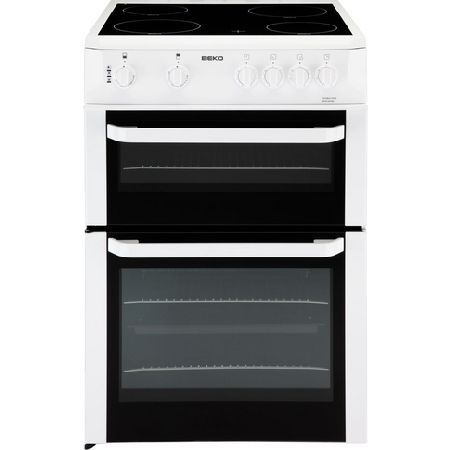 Beko BDVC663W 60cm Electric Double Oven cooker- Beko BDVC663W 60cm Electric Double Oven cooker: Electric main fan oven with over 60 litres capacity and 35-litre top oven, you have plenty of room to roast, bake or simply warm food. Theres also 4 cer http://www.MightGet.com/february-2017-1/beko-bdvc663w-60cm-electric-double-oven-cooker-.asp