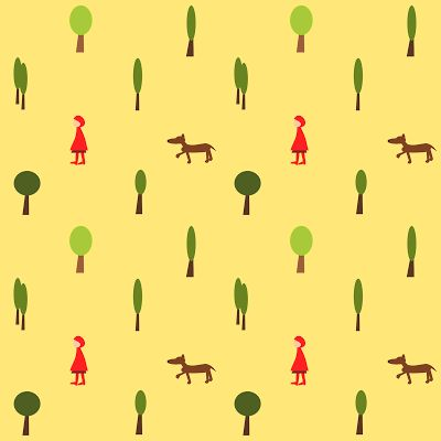 free digital fairytale scrapbooking paper: printable little-red-riding-hoot DIY wrapping paper