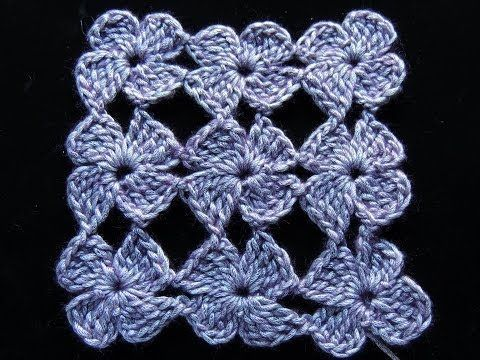 Crochet : Flor 4 Petalos. Parte 2 de 2 - YouTube ✿Teresa Restegui http://www.pinterest.com/teretegui/✿