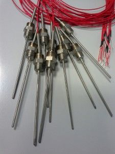 Pt100 3 wires with Transition junction welded with connector
