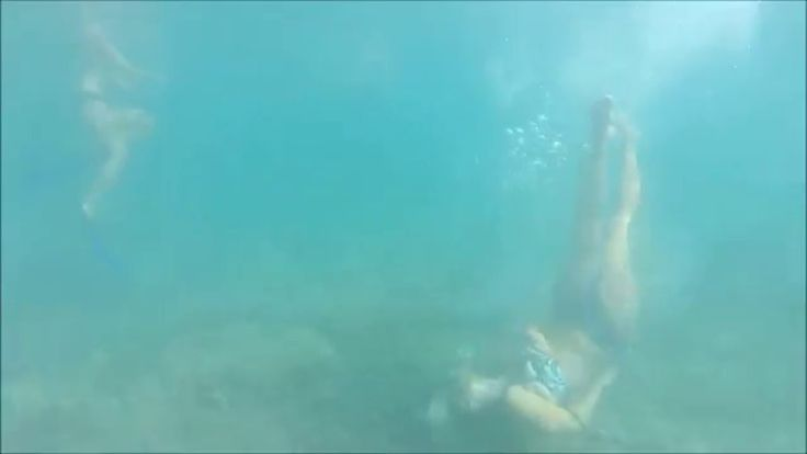 Dancing under the water at Jaz Beach, Montenegro with a GoPro Hero 3+