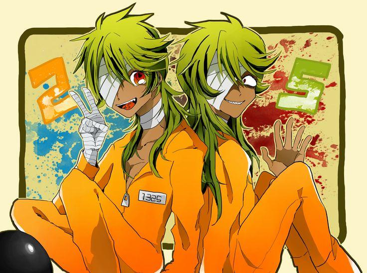 Pixiv Id 8242321, Nanbaka, Nico (Nanbaka), Orange Outfit, Prison Outfit, One Eye Showing