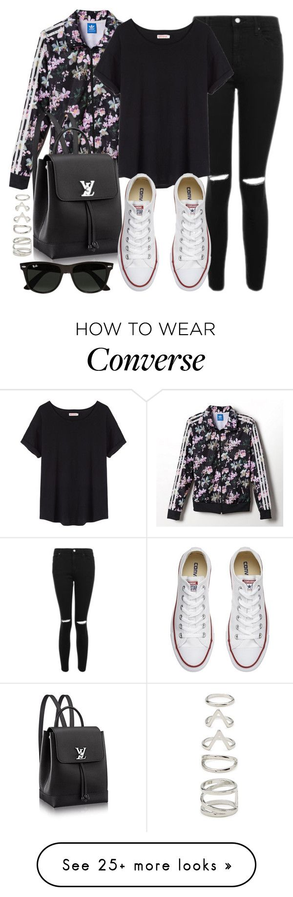 """""""Style #11643"""" by vany-alvarado on Polyvore featuring Topshop, adidas, Organic by John Patrick, Converse, Ray-Ban and Forever 21"""