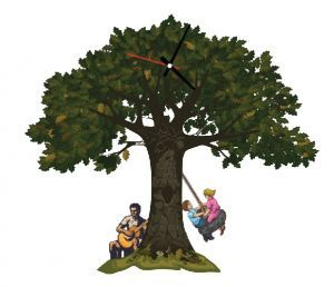 Ağaç - Sallanan Sarkaçlı Duvar Saati - Ağaç - Sallanan Sarkaçlı Duvar Saati - Goodtıme - Duvar Saatleri - 55,90 TL