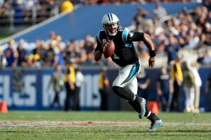 Panthers vs. Rams:  13-10, Panthers  -     Carolina Panthers quarterback Cam Newton runs the ball during the first half of an NFL football game against the Los Angeles Rams, Sunday, Nov. 6, 2016, in Los Angeles.
