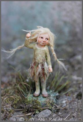 Tiny Bran, a wood elf  ~ by Tatiana Raum