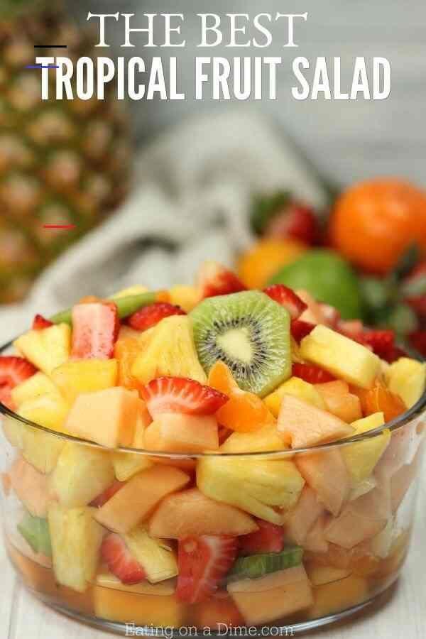 Tropical Fruit Salad Recipe The Best Hawaiian Fruit Salad Fruitsalad Try This Simple Tropical Fruit Salad Recipe It Obstsalat Rezepte Bester Obstsalat