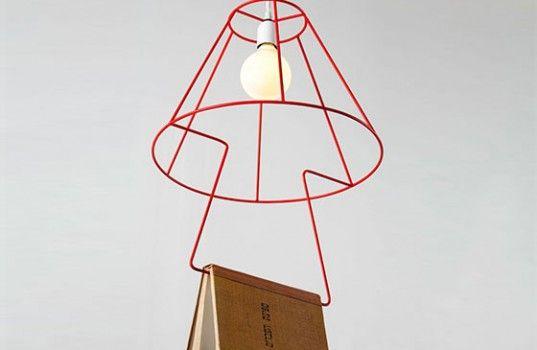 """Kitap Kurtları İçin Ayıraç Lamba """"Book Pendant Lamp"""""""