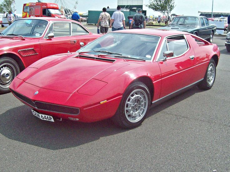 https://flic.kr/p/SPzx4j | 372 Maserati Merak (1975) | Maserati Merak SS (1976-82) Engine 2965cc V6  Registration Number OLW 646 P MASERATI SET  www.flickr.com/photos/45676495@N05/sets/72157623795907478...  The Merak was introduced in 1972 essentially a junior version of the Maserati Bora. It substituted an all new Maserati designed quad-cam V-6 motor (also shared with the Citroen SM) for the Bora's larger V-8, resulting not only in a lower cost, but room for a small backseat and better…