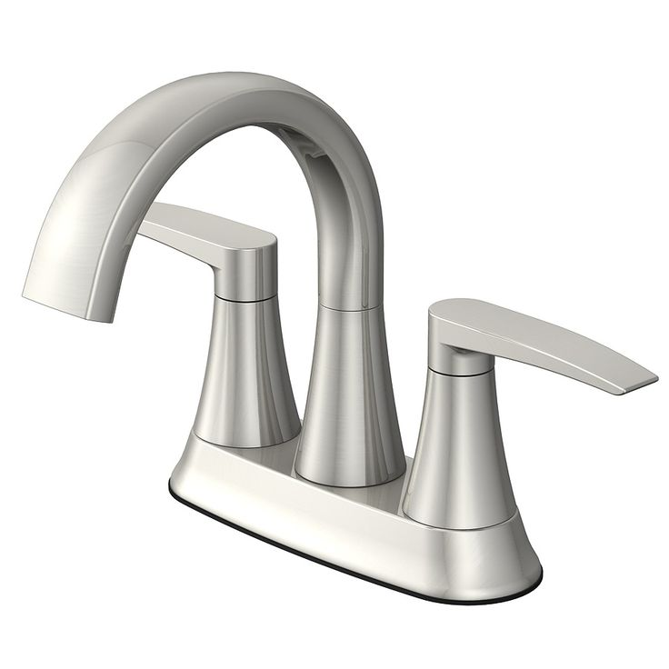 Shop Jacuzzi Lyndsay Brushed Nickel 2-Handle 4-in Centerset WaterSense Bathroom Sink Faucet (Drain Included) at Lowes.com  Item #553443, Model #F51A1088NP, $74