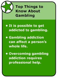 Gambling problem signs