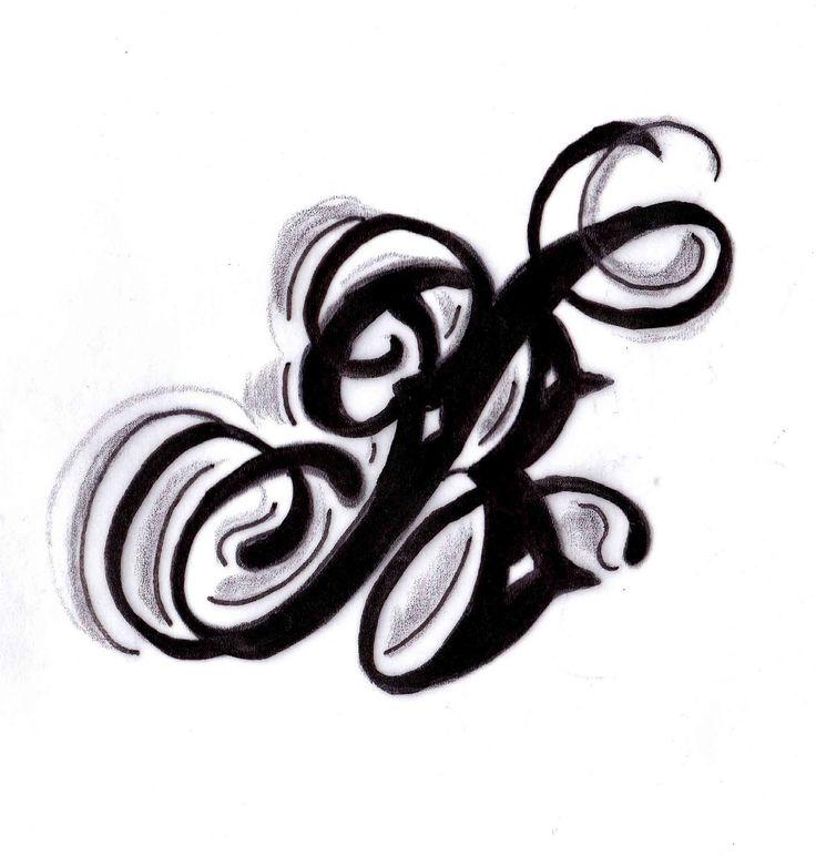 Letter B Heart Tattoo Copy White Tattoo Tattoo
