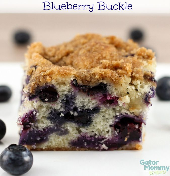 Blueberry Buckle makes a delicious breakfast coffeecake, snack or dessert - Gator Mommy Reviews http://gatormommyreviews.com/2015/01/blueberry-buckle-recipe.html