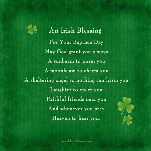 Irish Blessings for Babies - Irish Birth Announcements