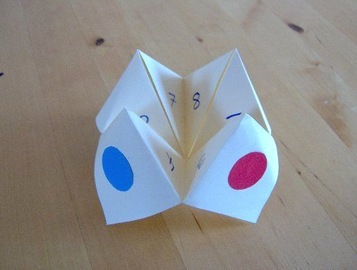 I loved the Cootie Catchers back in the day! I'm not sure how well this will work for my child(ren) since she and I speak different languages, but I'll come up with something...