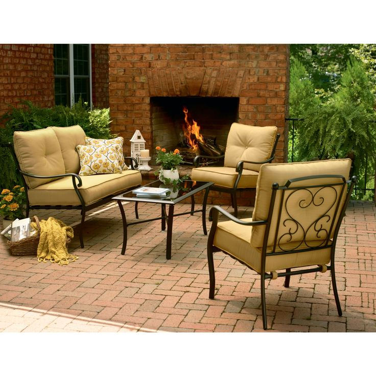 Vinton Outdoor Deep Seating Set: Find Outdoor Relaxation at Sears - Images About Patio Furniture On Pinterest Resorts, Jaclyn