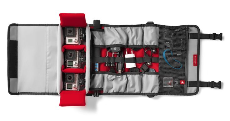 #Manfrotto Off road Stunt action cameras roll #organizer