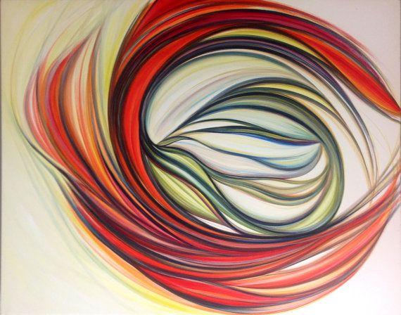 Pittura Astratta Acrilico su Tela Alta  Dall' alto di AriArtStudio