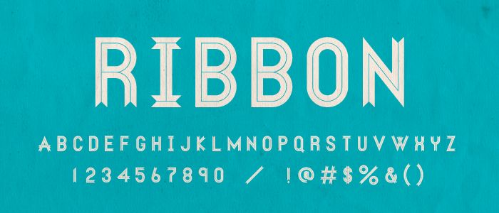 Ribbon via Lost Type.