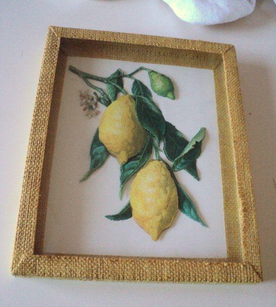 Vintage Lemon Picture 3D Papercraft. Framed by GryphonVintage